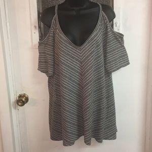 Torrid cold shoulder knit top. Size 3