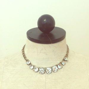Faux diamond statement necklace:
