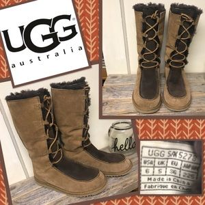 Ugg Whitley Lace Up Boots Girls 6 Women's 8