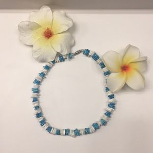 ✨Blue and White Sea Shell Necklace