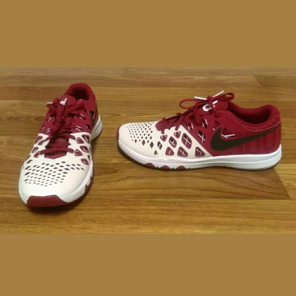 Oklahoma Sooners Shoes Nike Train Speed 4 AMP OU NCAA FOOTBALL Men's Sz 10