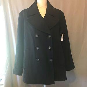 Old Navy Black Pea Coat Jacket