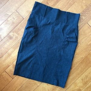 Gray pencil skirt, size 5 pencil skirt, small