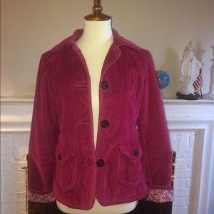 Gap pink corduroy jacket Sz 8