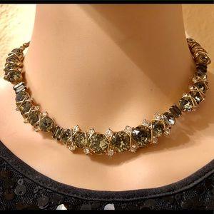 Hattie Carnegie Vintage Necklace Rhinestones Glass