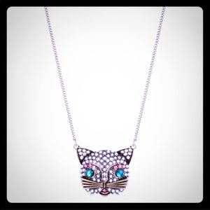 (Betsey Johnson) Bling Cat Necklace