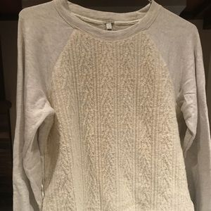J Crew cream sweatshirt