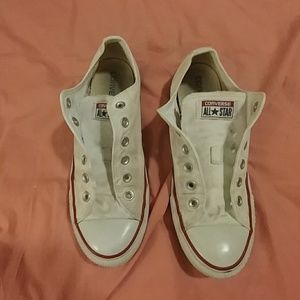 White/Creme Converse Low Tops