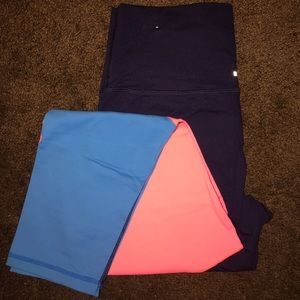 Leggings- Navy, Pink , Blue