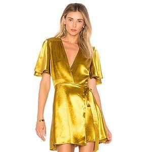 Brisco Dress in mustard metallic