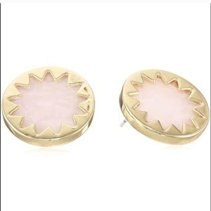 house of harlow // gold + rosy pink sunburst studs