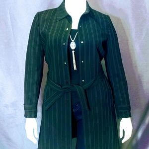 Tahari Pinstripe Blazer Coat