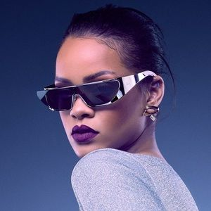 Rihanna Christian Dior Sunglasses in Silver