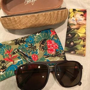 Maui Jim Little Mak/Aviator Style Sunglasses