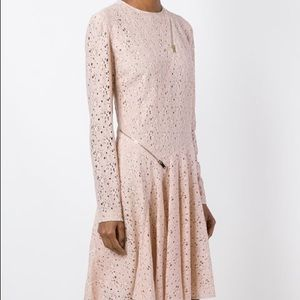 Stella McCartney pink lace zip detail dress