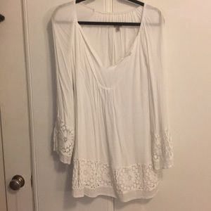 Urban outfitters light and loose white dress