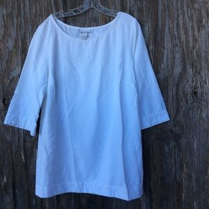 Soft Surroundings white tunic