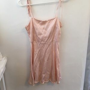 baby pink satin dress