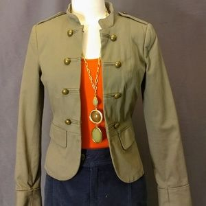 H&M Olive Green Military Style Jacket