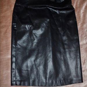 All Saints Woman's Leather Pencil Skirt