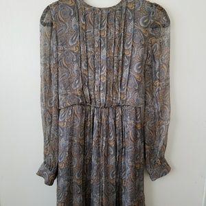 Silk chiffon paisley dress