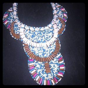 Ankara print necklace