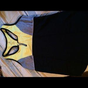 Yellow/black gym top