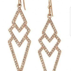 Stella & Dot Pavé Spear Earrings in Gold