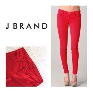 Red jbrand skinny jeans