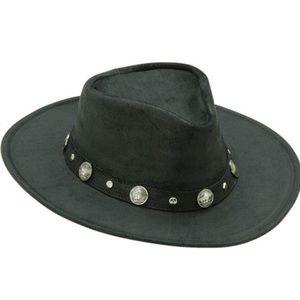 The Outback Black Minnetonka Buffalo Nickel Hat M
