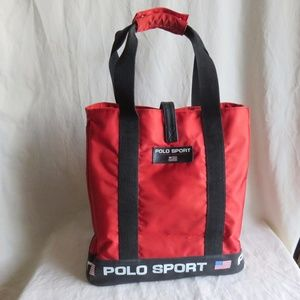 Vintage Polo Sport Ralph Lauren Large Red Tote