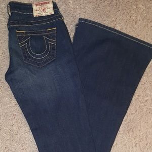 NWOT, True Religion Carrie Flare jeans