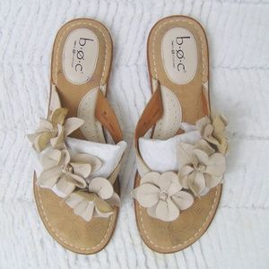 BOC Born Vicennes Ivory Cream Flower Sandals