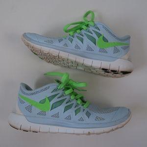 Nike Free Run 5.0 Shoes in Antarctica Green Blue