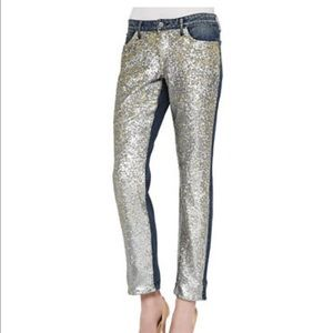 CJ Keeper BF - Party Jeans sequined front 30
