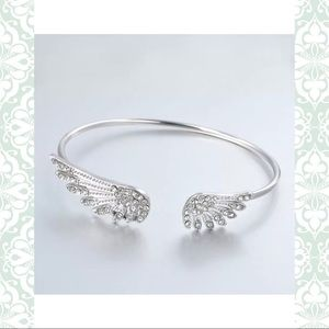 Silver Sparkle Cuff Bracelet -New