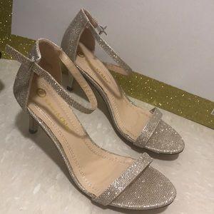 Shimmering gold gala heels