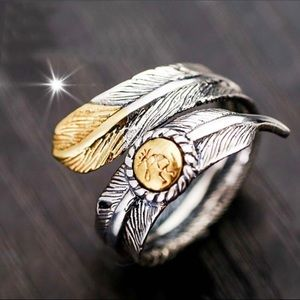 Eagle 🦅 Feather Navajo Signed Ring🦅