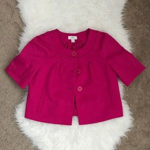 Ann Taylor LOFT Fuschia Short Sleeve Blazer