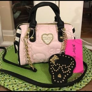 Betsey Johnson Mini Barrel Purse Quilted