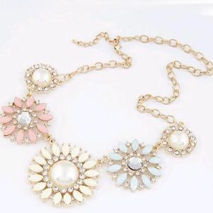 Pastel Floral Accent Necklace