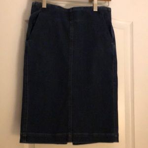 Loft pull on denim pencil skirt with pockets