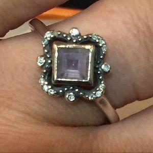 Avon sterling silver Amethyst ring