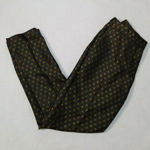 H&M Black, Grey & Gold Diamond Jacquard Pants - 6
