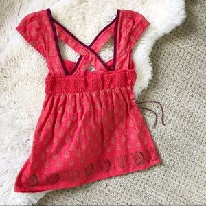 Free People Red Sleeveless Top Size 0