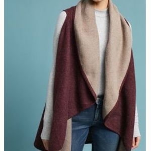Two-toned shawl vest
