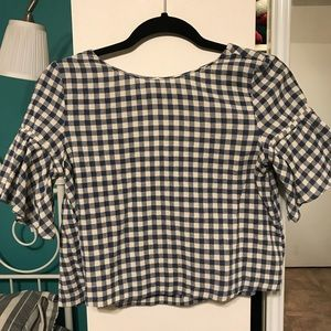 Zara gingham crop top