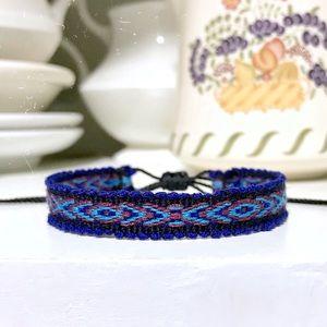 2 for $9 ⇨ Blueberry Boho Woven Bracelet