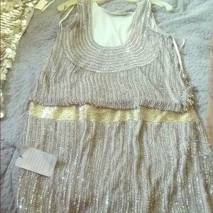 Beautiful silver sleeveless dress from Norstrom