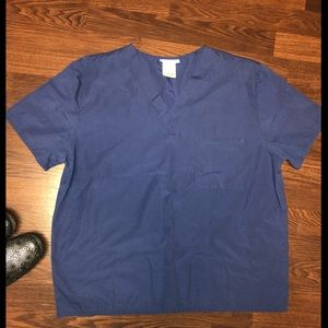 Navy Blue Scrub Top